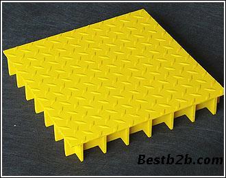 供应永乾盖板型聚酯格栅板月牙盖板型格栅板花纹钢