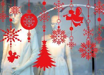 圣诞树雪花墙上贴纸