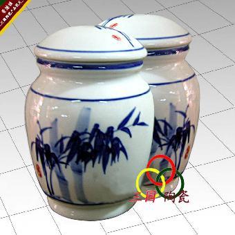 陶瓷手绘茶叶罐