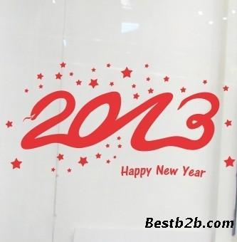 新年边角框矢量图