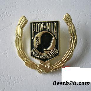部队徽章哪里订做 生产金属队徽 企业胸徽制作广州