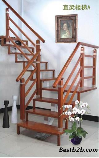 复式跃层专用钢木楼梯-信步