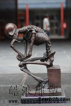 22北京鬼怪人物雕像骷髅雕塑人体骨骼雕塑公司