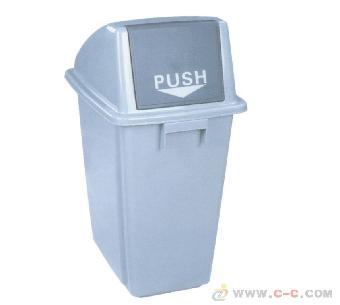 重庆环保60l带轮子塑料垃圾桶