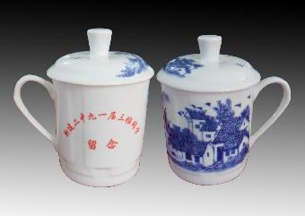 杯子/关键字:会议茶杯定做厂家景德镇青花瓷茶杯图片陶瓷茶杯生产厂