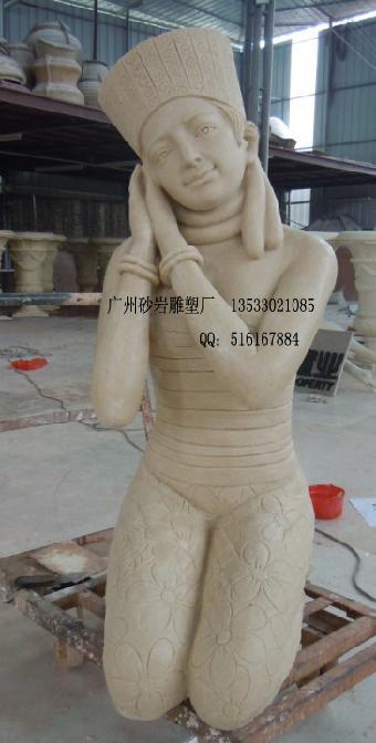 仿砂岩人物雕像 美女雕塑 欧式景观雕塑