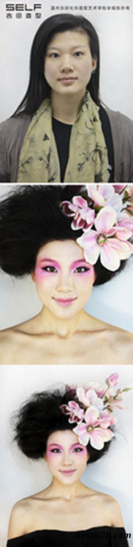 普通会员 分享:平面摄影创意妆秀吉田造型4个月高级形象图片