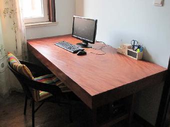 天然原木冰糖果大板现代简约办公桌