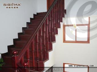 旋转的楼梯手绘透视图