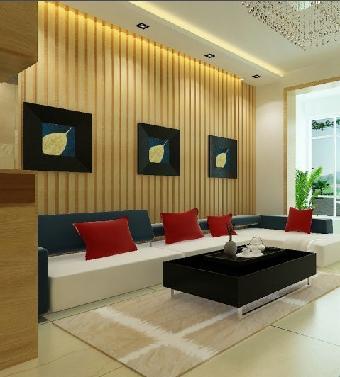 生态木背景墙,生态木客厅背景墙