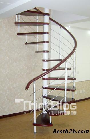 跃层装修钢木楼梯的选择-信步