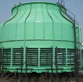 圆型逆流式玻璃钢冷却塔基础,进出水配管,电机功率等与相应的低