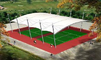 湖南网球场膜结构,门球场膜结构,羽毛球馆柔道顶棚颜丙军图片