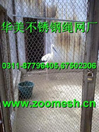 钢丝绳动物园笼舍