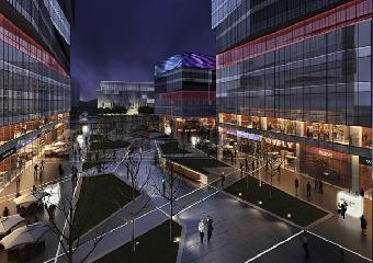 深圳欧式商业街建筑设计,欧式风格商业街室外建筑规划