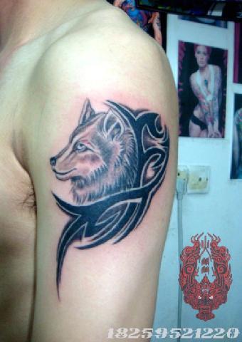 泉州纹身 专业纹身 纹身图案 火麒麟口碑好