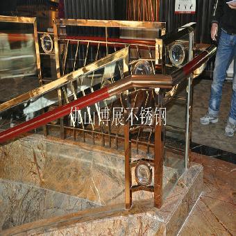 鈦金不銹鋼別墅樓梯扶手