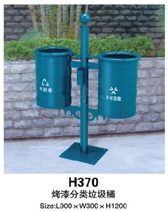 天平式分类垃圾桶 单管方底座垃圾桶 小区街道使用