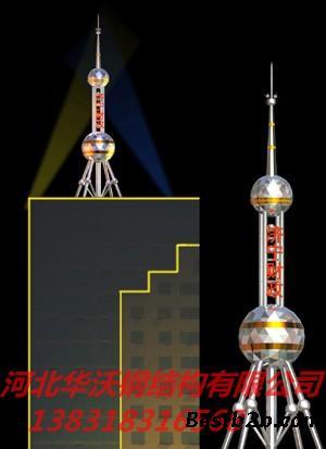 装饰塔或不锈钢塔(因为外包不锈钢)特别适用与标志性建筑物,各大办公