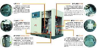 上海德斯兰直连式螺杆空压机内部结构图图片
