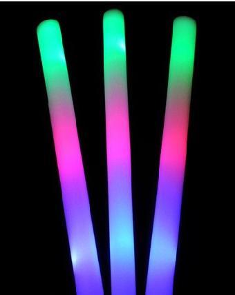 七彩 三色海绵棒 彩色发光棒 泡沫棒 彩虹棒图片