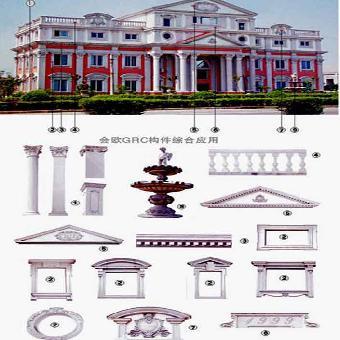 会欧欧式构件模具:可生产欧式罗马柱,檐线,腰线,门套,窗套,山花