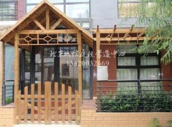 花园设计施工,屋顶花园,防腐木制品,庭院小品有(防腐木花架,花槽,栅栏
