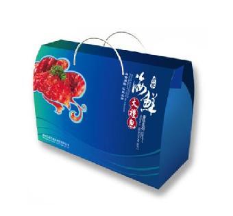 包装,纸 包装设计加工     郑州彩色纸箱厂 海鲜礼盒供应 郑州海鲜