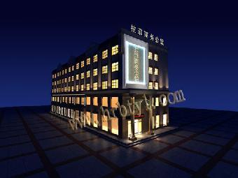 酒店空间的分隔首先是结构分隔,即根据使用功能的需要,运用墙,柱