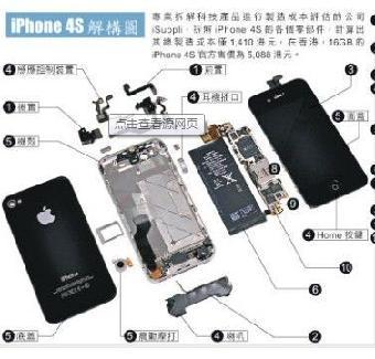 苹果5听主板图解