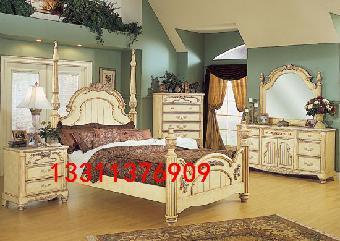 欧式木头床图片大全