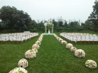 婚礼白色欧式围栏