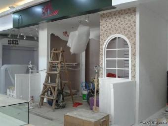 华强北店铺装修公司,石膏板隔墙隔断电路改装布线