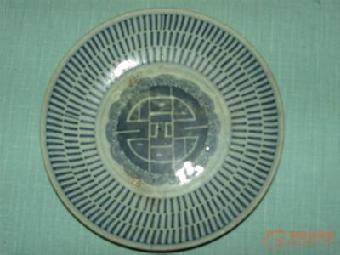 明代民窑青花盘瓷器拍卖_志趣网