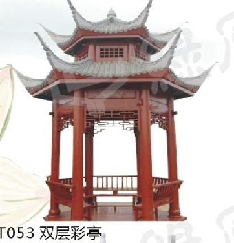 t053双层彩亭 吉林凉亭 吉林木屋 吉林木结构