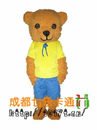 泰迪熊卡通行走人偶服装出租