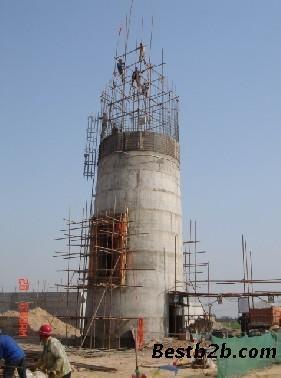 电厂双曲线冷却塔内衬堵漏