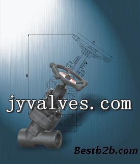 锻钢y型截止阀j65h-100c 160c图片