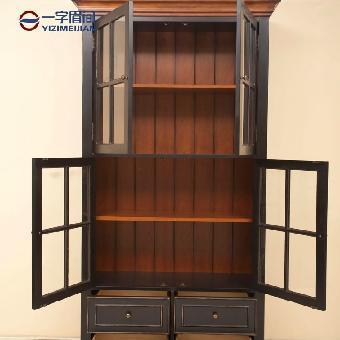 安布瑞斯书柜 多功能柜 储物柜比邻乡村风格 一字眉