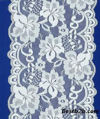 刺绣花边所展现的形式会以网布花,波边,朵花,单波花