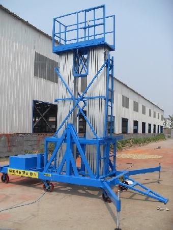 室内铝合金桅柱升降机升降梯就找济南天龙液压机械厂图片