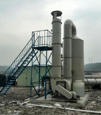 废气处理塔产品外形美观结构紧凑占地面积小耐腐浊抗老化性能好安装
