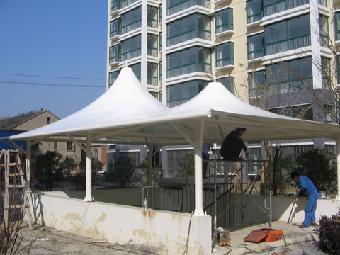 城市海岸a区屋顶膜结构