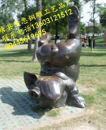 可爱小动物摆件-园林可爱小动物-小动物雕塑制作