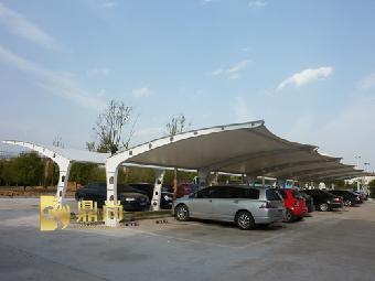 漳州膜结构汽车停车棚,三明钢结构,龙岩自行车棚