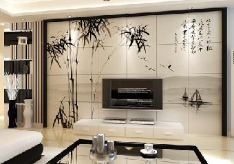 pvc文化砖背景墙,纤维面料文化砖背景墙,铝合金文化砖背景墙和竹木