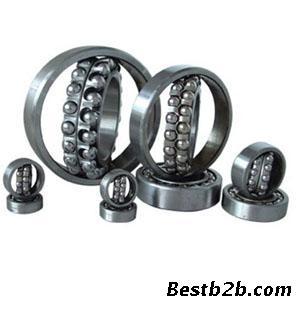 调心球轴承有圆柱孔和圆锥孔两种结构,保持架的材质有钢板,合成