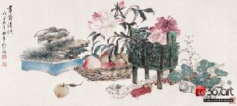 1955年冬,安徽省有关部门到上海聘请画家来皖参与文化建设,所聘的有
