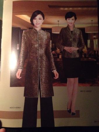 上海酒店服装定制订做餐饮服务员制服冬装工作服订做