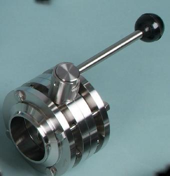 因而在大口径的调节领域,蝶阀的应用非常普遍;卫生级手动三块式焊接图片